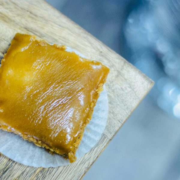 Brown butter caramel blondies